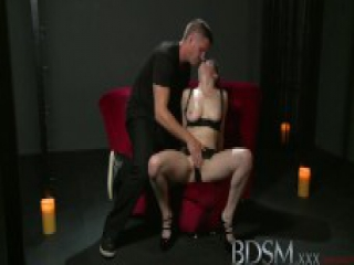 BDSM XXX Beautiful sex hungry sub has her tight hole filled up