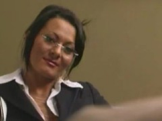 Lee Stone ravages Sandra Romain hard in his office!