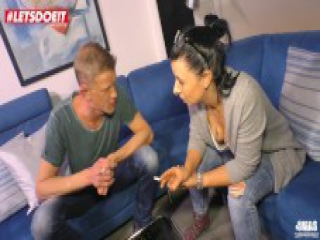 LETSDOEIT - Kinky German Milf Abused By Her Neighbor's Big Cock!