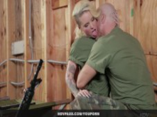 Tatted Bombshell Christy Mack Blowjob and Hardcore Army Sex Video