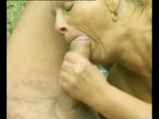 Big-Tit Granny Fucks A Big Dick Outdoors