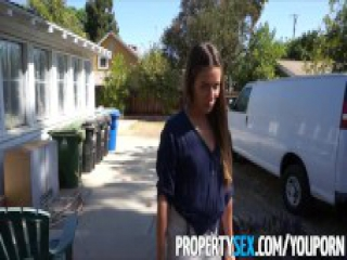 PropertySex - Hot real estate agent fucks her client homemade sex video