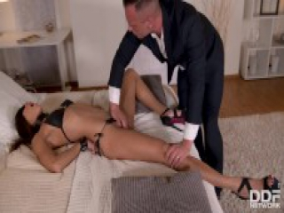 Defiant wife Cassie Del Isla dominated & gagged in fetish XXX hardcore porn