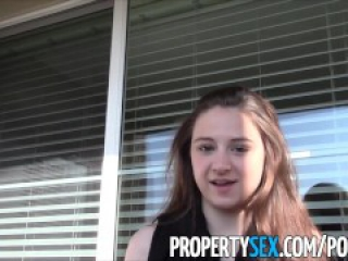 PropertySex - Young real estate agent fucking in condo homemade sex