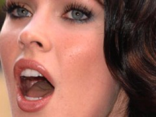 Megan Fox Blowjob, Mouthfucking and Cum Facial