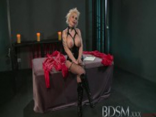 BDSM XXX Sexy Spanish sub gets a rude awakening from her Master