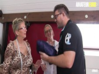 AmateurEuro - German Mature Honeys Seduce and Fuck a Young Guy