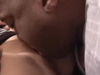 Beautiful blonde performing a romantic but hard sex with a black lover.