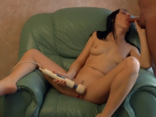 Masturbation with blowjob and after hot sex