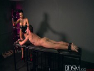 BDSM XXX Beautiful big breasted Mistress uses her subs cock as she pleases